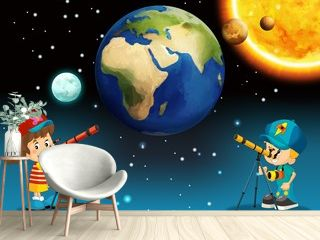 The solar system - milky way - astronomy for kids
