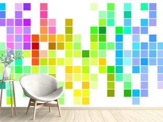 Mosaic Rainbow Colored Rectangles