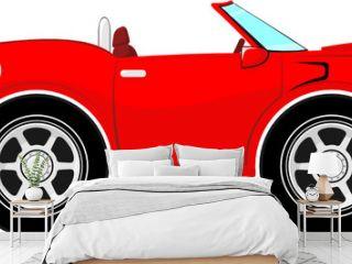 red convertible car cartoon