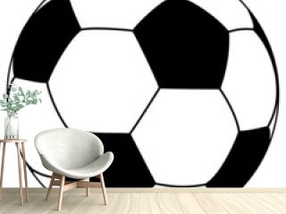 black-white fooball - simple vector illustration