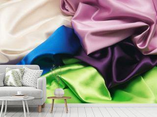 heap of cloth fabrics
