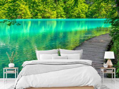 Pond at Plitvice Lakes National park in Spring