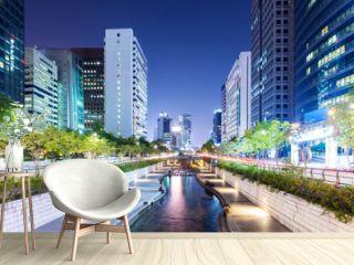 Cheonggyecheon in Seoul city