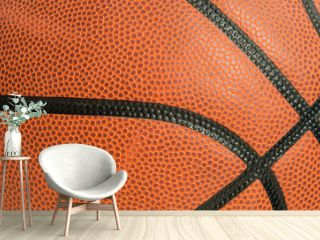 leather basketball as a background