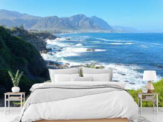 Beautiful ocean and coast landscape in Hermanus, South Africa