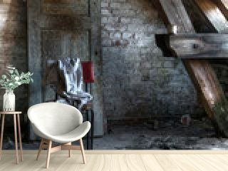 Abandoned attic room