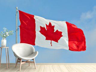 Canada Flag Flying on pole