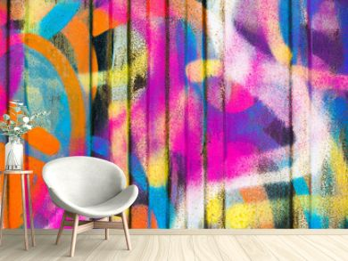 Colorful painted wall
