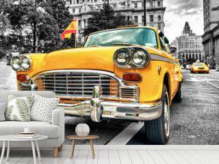 Vintage Yellow Cab in Lower Manhattan - New York City
