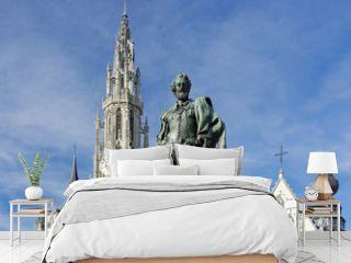 Rubens Denkmal vor der Liebfrauenkathedrale in Antwerpen