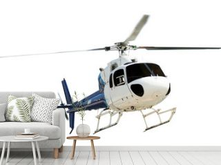 Helicopter with working propeller