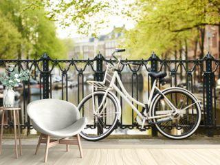 bike on amsterdam street in city
