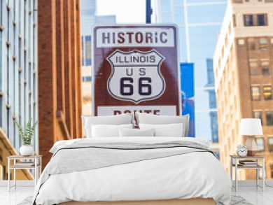 Route 66 sign in Chicago