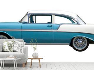 Aqua Bel-Air Vintage Automobile against White Background