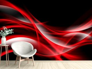 Creative Art Red Light Fractal Waves Abstract Background