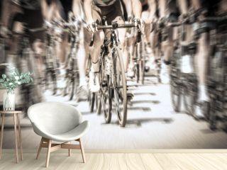 gara ciclistica su strada - leader - sfocatura radiale