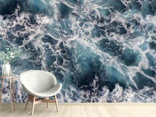 Seawater with sea foam as seamless background