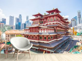 The Buddha Tooth Relic Temple in Singapore