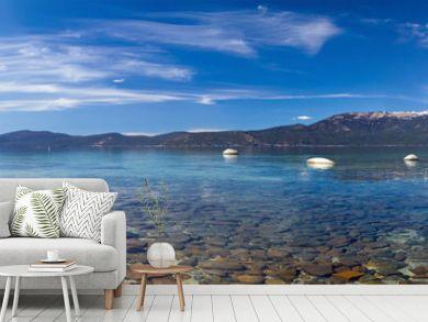 Lake Tahoe Panoramic Beach Landscape