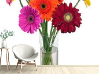 Bouquet from multi colored gerbera flowers.