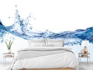 Water splash isolated on white