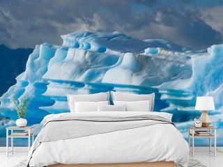Icebergs in the water, the glacier Perito Moreno. Argentina. An excellent illustration.