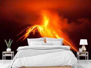 volcano erupting lava volcan landscape tungurahua explosion ecuador active magma south tungurahua eruption exploding in the nighttime of 30 11 2011 ecuador shot with canon eos 5d marker ii converted