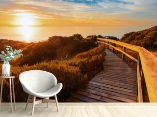 Landscape of South Australia. Hallett Cove at sunset.