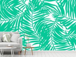 Tropical lush palms seamless pattern