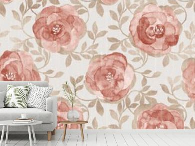 flowers seamless pattern - For easy making seamless pattern use it for filling any contours