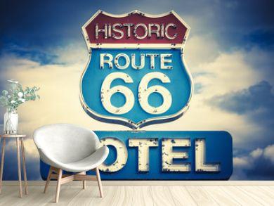 motel spirit in historic 66 road
