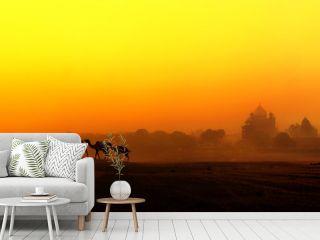 Tourism panoramic landscape of Agra, India