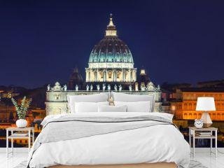 St Peter Rome Night