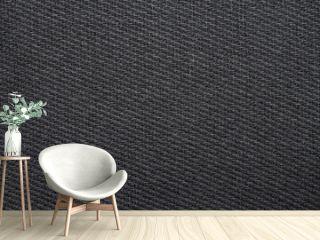 black woven fabric