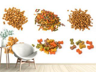 set of dog foods