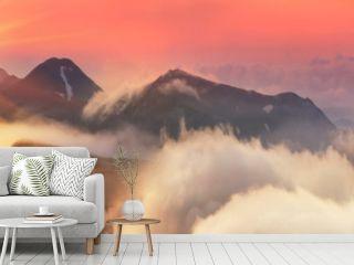 Misty Carpathian Sea