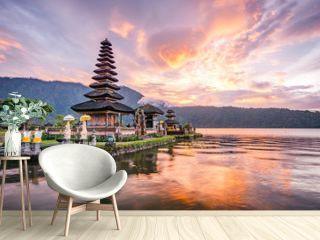 Pura Ulun Danu Bratan, Famous Hindu temple and tourist attraction in Bali, Indonesia