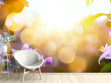 art Spring Blooming background