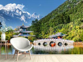 Beautiful view of the Jade Dragon Snow Mountain, Lijiang, China