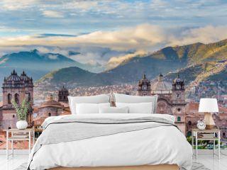 Morning sun rising at Plaza de armas, Cusco, City