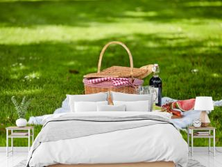 Healthy outdoor summer or spring picnic