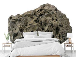 Lavaschlacke vom Vulkan Ätna isoliert auf weißem Hintergrund