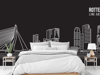Cityscape Building Line art Vector Illustration design - Rotterdam City