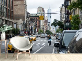 New York City Taxi Streets USA Big Apple Skyline