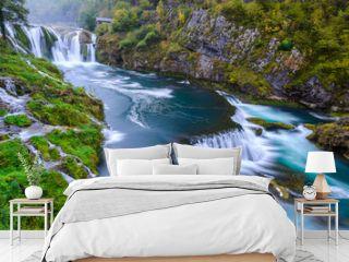 Waterfall of Strbacki Buk on Una river in Bosnia and Herzegovina