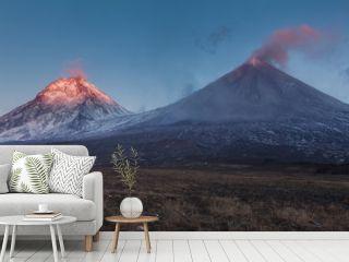 Eruption. Klyuchevsoy volcano.