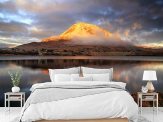 Sunset at Mount Errigal, County Donegal, Ireland