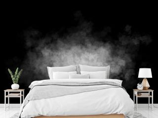 Fog or smoke isolated transparent special effect. White cloudiness, mist or smog background.
