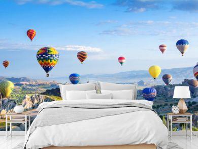 The great tourist attraction of Cappadocia - balloon flight.