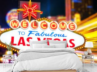 Welcome To Fabulous Las Vegas neon sign Nevada USA